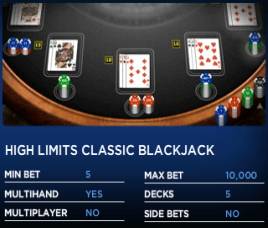 online casino betting limits