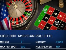 High Limit American Roulette